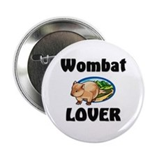 """Wombat Lover 2.25"""" Button"""