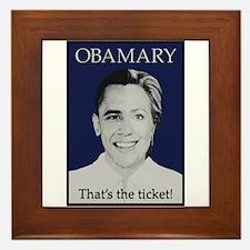 Obama Clinton Ticket Framed Tile