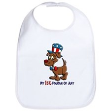 Patriotic Dog (1st Fourth Of July) Bib