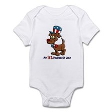 Patriotic Dog (1st Fourth Of July) Infant Bodysuit