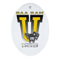 Baa Ram U yellow Keepsake (Oval)
