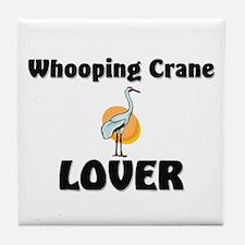 Whooping Crane Lover Tile Coaster