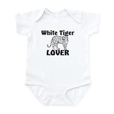 White Tiger Lover Infant Bodysuit