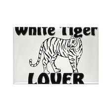 White Tiger Lover Rectangle Magnet