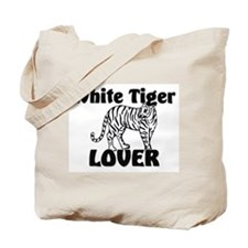 White Tiger Lover Tote Bag