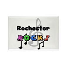 Rochester Rocks Rectangle Magnet