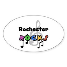 Rochester Rocks Oval Decal