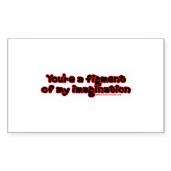 Figment of My Imagination Rectangle Sticker 10 pk