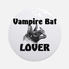Vampire Bat Lover Ornament (Round)