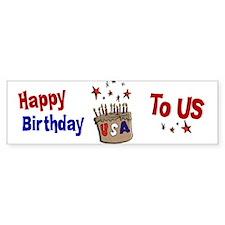 Happy Birthday To Us 1 Bumper Bumper Sticker