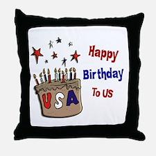 Happy Birthday To Us 1 Throw Pillow