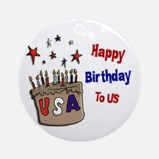 Happy Birthday To Us 1 Ornament (Round)