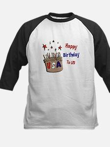 Happy Birthday To Us 1 Kids Baseball Jersey