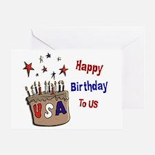 Happy Birthday To Us 1 Greeting Card