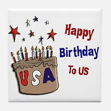 Happy Birthday To Us 1 Tile Coaster