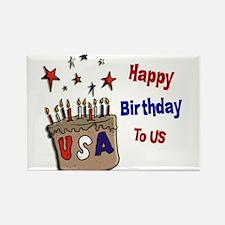 Happy Birthday To Us 1 Rectangle Magnet