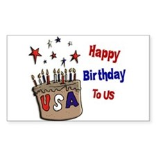 Happy Birthday To Us 1 Rectangle Decal