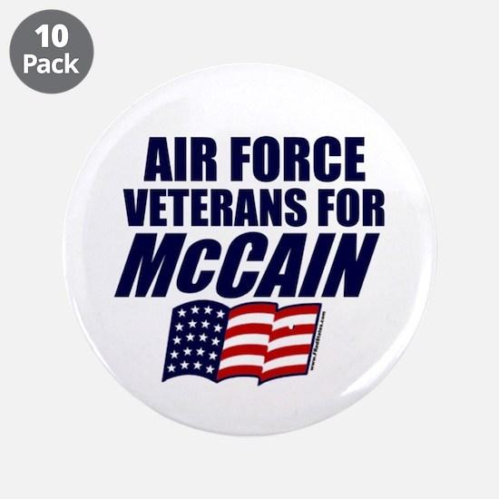 "Airmen for McCain 3.5"" Button (10 pack)"