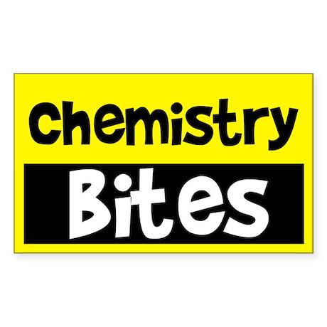 Chemistry Bites Rectangle Sticker