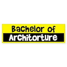 Bachelor of Architecture Bumper Car Sticker