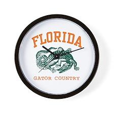 Florida Gator Country Wall Clock