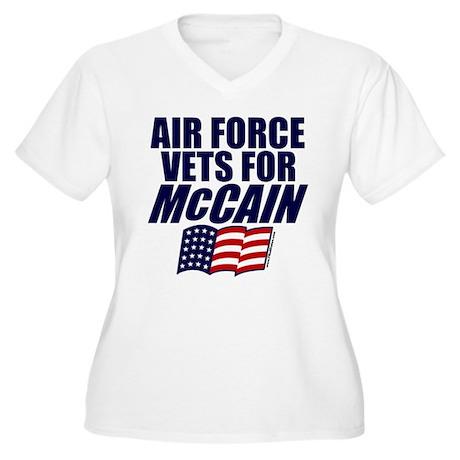 Airmen for McCain Women's Plus Size V-Neck T-Shirt