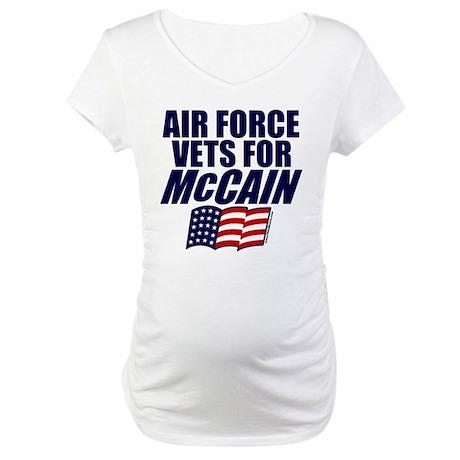Airmen for McCain Maternity T-Shirt