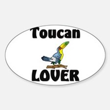 Toucan Lover Oval Decal