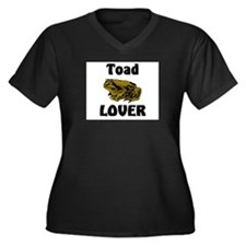 Toad Lover Women's Plus Size V-Neck Dark T-Shirt