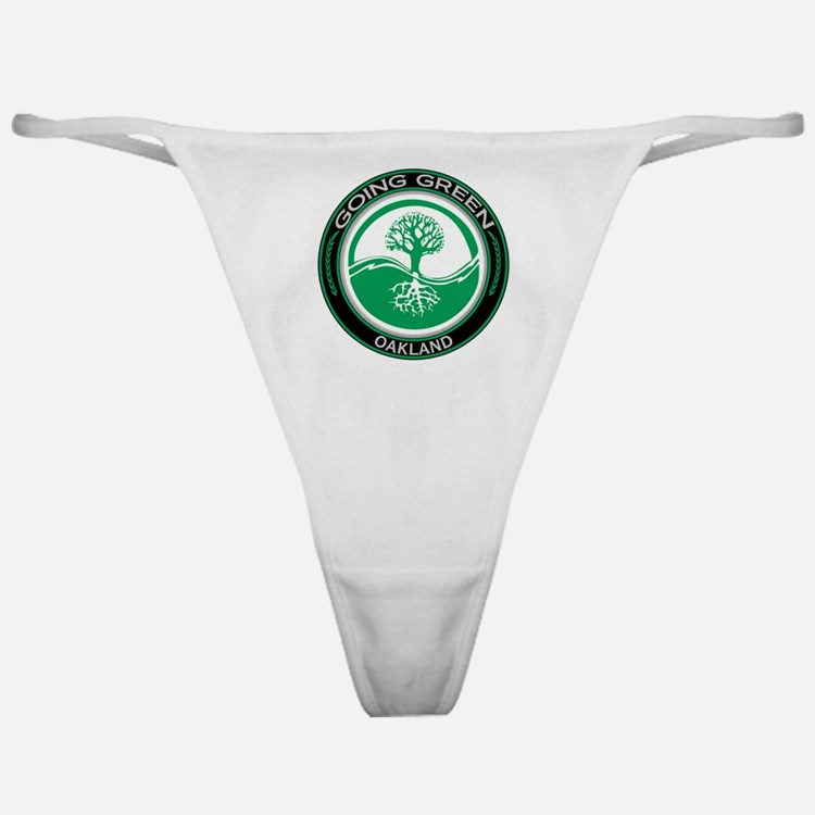 Going Green Oakland Tree Classic Thong