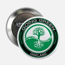 "Going Green Oakland Tree 2.25"" Button"