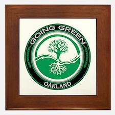 Going Green Oakland Tree Framed Tile