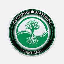 Going Green Oakland Tree Ornament (Round)
