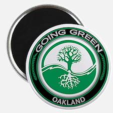 Going Green Oakland Tree Magnet