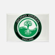 Going Green Oakland Tree Rectangle Magnet