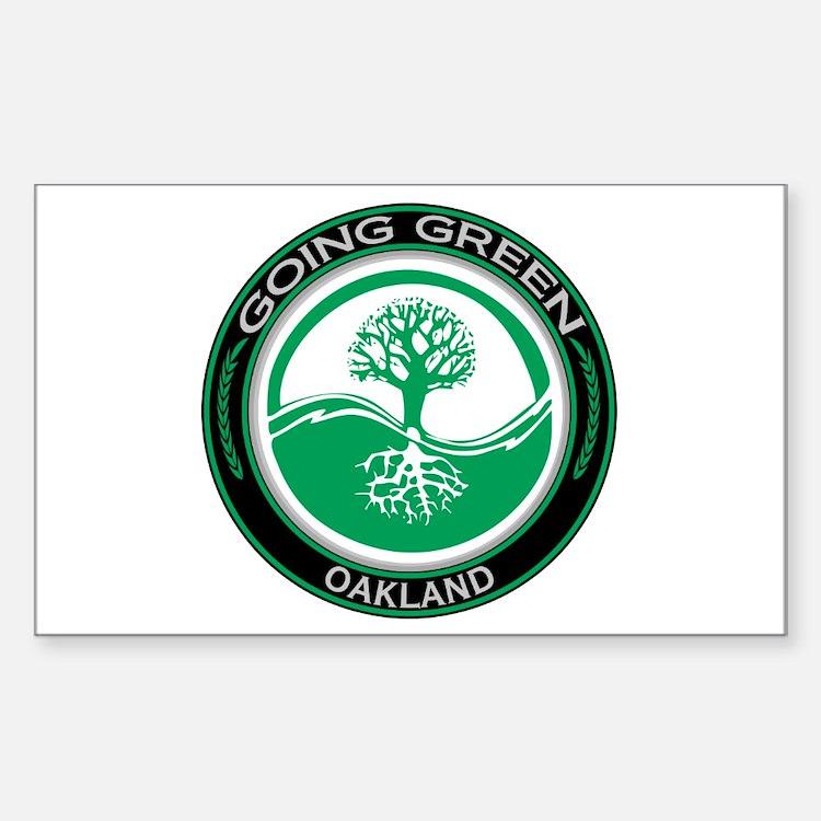 Going Green Oakland Tree Rectangle Sticker 10 pk)