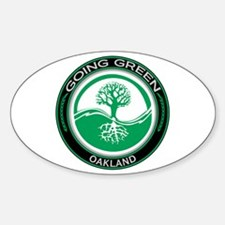 Going Green Oakland Tree Oval Sticker (10 pk)
