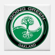 Going Green Oakland Tree Tile Coaster