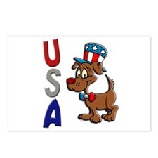 Patriotic Dog (USA) Postcards (Package of 8)