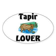 Tapir Lover Oval Decal