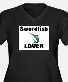 Swordfish Lover Women's Plus Size V-Neck Dark T-Sh