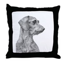 Wirehaired Dachshund 1 Throw Pillow