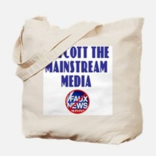 Boycott Mainstream Media Tote Bag