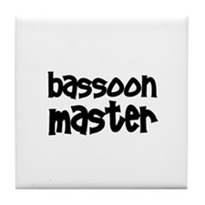 Bassoon Tile Coaster