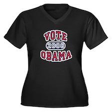 Obama College Style Women's Plus Size V-Neck Dark