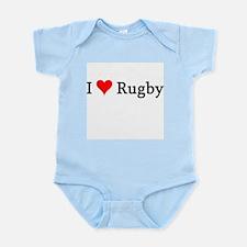 I Love Rugby Infant Creeper