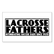 Lacrosse Fathers Rectangle Decal