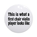 Violin Ornament (Round)