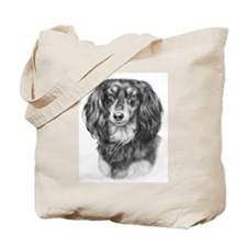 Longhaired Dachshund #1 - Bla Tote Bag