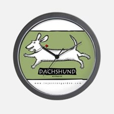 Dancing Wirehaired Dachshund Wall Clock